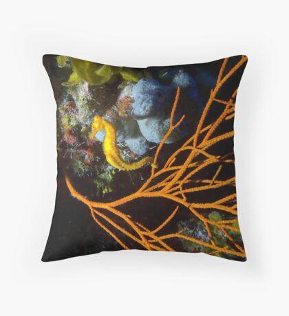 Seahorse Posing Throw Pillow