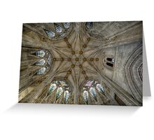 St Mary's Ceiling Greeting Card