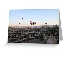 Hot air balloons over Cappadocia Greeting Card