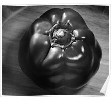 B&W Bell Pepper Top View Poster