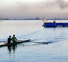Early morning rowers, bay of Jagua, Cienfuegos, Cuba by buttonpresser