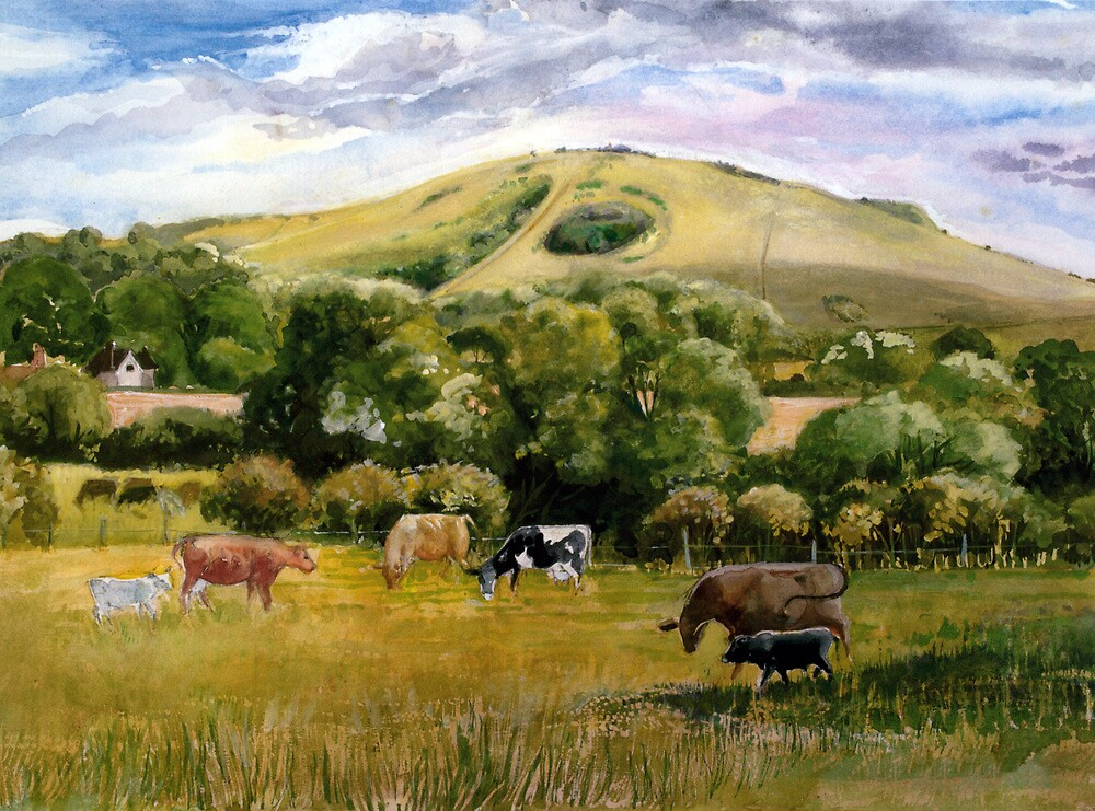Wolstonbury Hill by HurstPainters