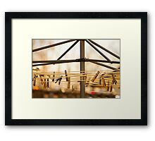 Clothespins on the Line Framed Print