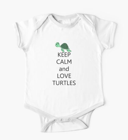 Keep calm and love turtles One Piece - Short Sleeve