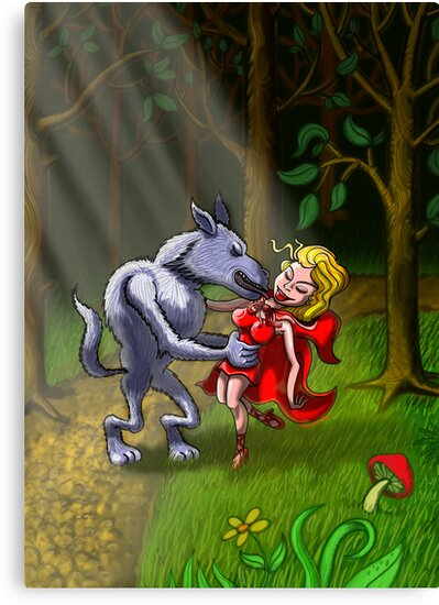 Wolf Kissing Red Riding Hood by Zoo-co