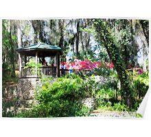 State Park Garden Gazebo Poster