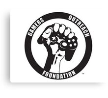 "Humorous ""Gamers Outreach Foundation"" Design Canvas Print"
