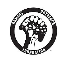 """Humorous """"Gamers Outreach Foundation"""" Design Photographic Print"""