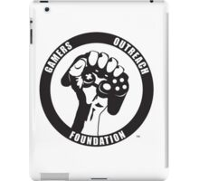 "Humorous ""Gamers Outreach Foundation"" Design iPad Case/Skin"