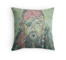 Captain Tortuga Tim Throw Pillow