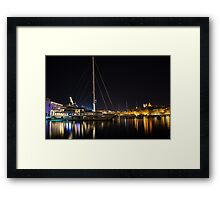 Reflecting on Malta - Grand Harbour Marina Vittoriosa  Framed Print