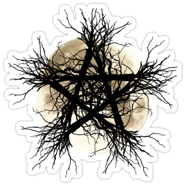 Pentagram and Moon by lab80
