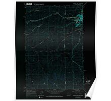 USGS Topo Map Indiana ID Moscow West 237269 1964 24000 Inverted Poster