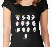 Cute ghost zodiac signs Women's Fitted Scoop T-Shirt