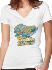 Back to the Vacation! Women's Fitted V-Neck T-Shirt