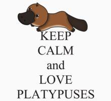 Keep calm and love platypuses Baby Tee