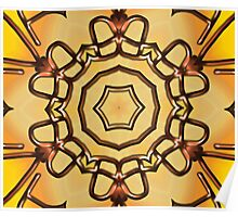 3d abstract pattern in the shape of flowers Poster