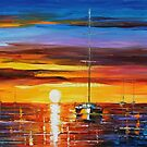 HOT SUNRISE - LEONID AFREMOV by Leonid  Afremov