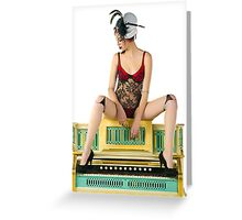 Doll Burlesque Greeting Card