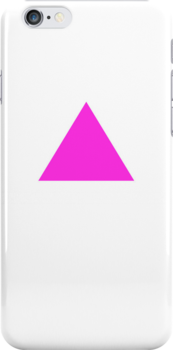 Pink Triangle on White by x-pressions