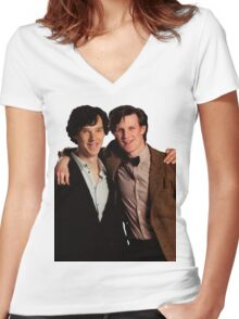 Sherlock and Eleven Women's Fitted V-Neck T-Shirt