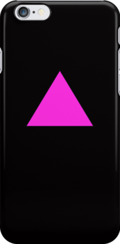 Pink Triangle on Black by x-pressions