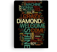 Wish You Were Here 'word cloud' Canvas Print