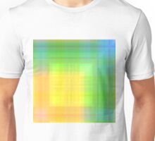 430. Rainbow Cute Plaid Unisex T-Shirt