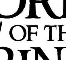 Lord Of The Drinks Sticker