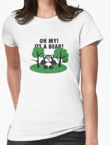 Oh My Its a Bear Womens Fitted T-Shirt