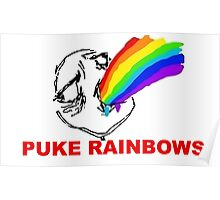 PUKE RAINBOWS TROLL Poster
