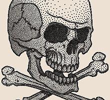 Stipple skull by satoriartwork