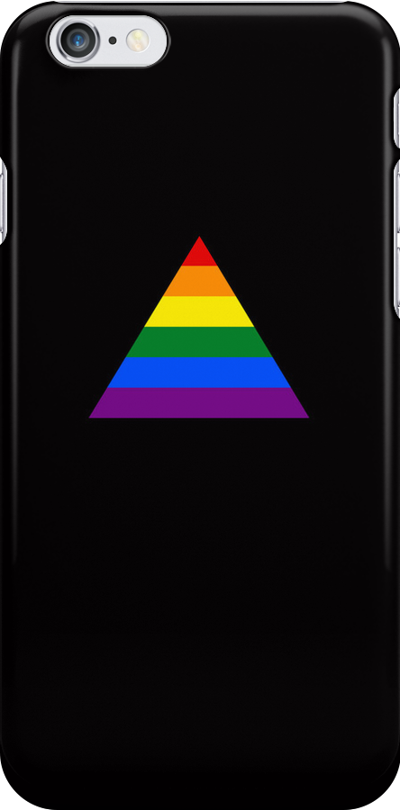 Pride Triangle on Black by x-pressions