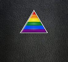 Pride Triangle on Leather by x-pressions
