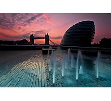 Southbank Sunrise: Tower Bridge & City Hall Photographic Print