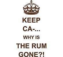 Why Is The Rum Gone? Photographic Print