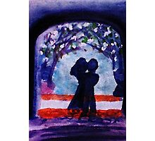The Arch of love #3  (darker version), watercolor Photographic Print