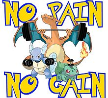 No pain no gain Pokemon by CrowTeam