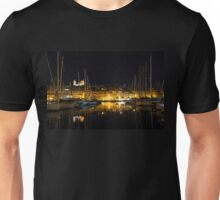 Reflecting on Malta - Senglea Magical Golden Night Unisex T-Shirt