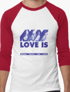 f(x) LOVE IS 4 WALLS Men's Baseball ¾ T-Shirt