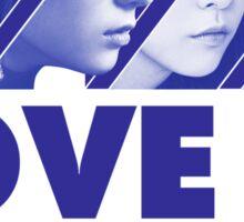 f(x) LOVE IS 4 WALLS Sticker