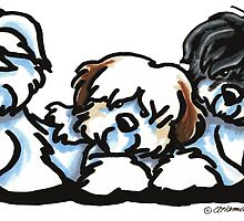 Coton Trio Illustration by Off-Leash Art by offleashart