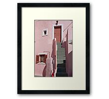 Long Gray Steps Framed Print