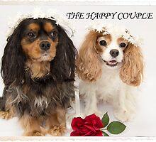 The Happy Couple Cavalier King Charles Spaniel by daphsam