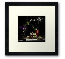 Grapes, Walnuts, Flowers and Fruit Framed Print