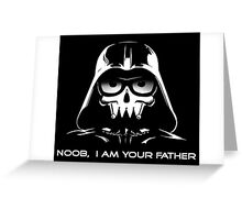 "Funny ""Noob, I Am Your Father"" Darth Vader Design Greeting Card"