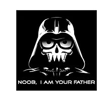 "Funny ""Noob, I Am Your Father"" Darth Vader Design Photographic Print"