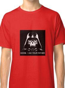 "Funny ""Noob, I Am Your Father"" Darth Vader Design Classic T-Shirt"