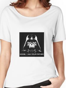 """Funny """"Noob, I Am Your Father"""" Darth Vader Design Women's Relaxed Fit T-Shirt"""