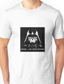 "Funny ""Noob, I Am Your Father"" Darth Vader Design Unisex T-Shirt"